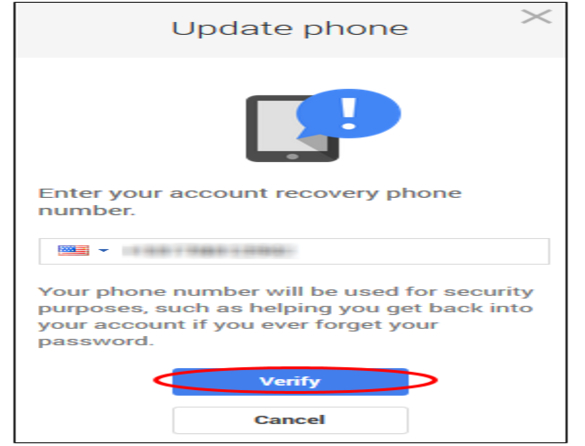 Google Recovery Phone Number