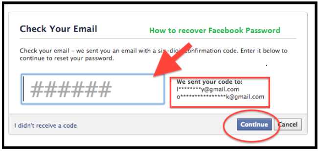 How to Recover Facebook Password