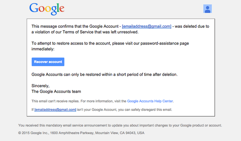Recover Google Account Disabled due to Suspicious Activity