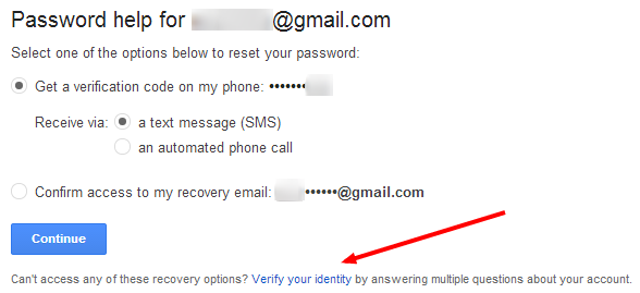 Recover the Gmail Password without security Question