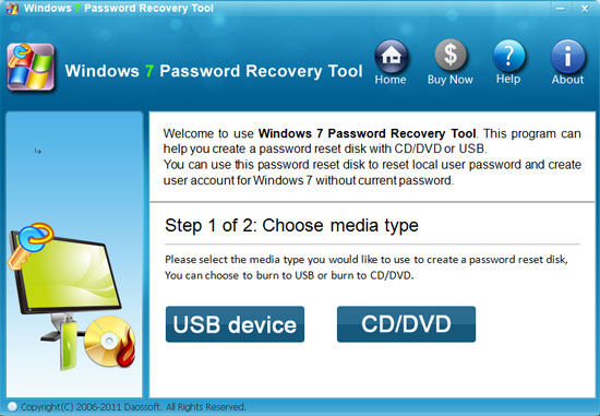 Windows 7 Password Recovery